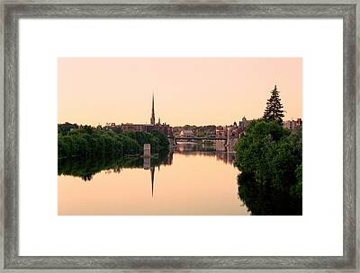 Cambridge Golden Glow Framed Print by Michael Swanson