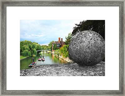 Punting In Cambridge Framed Print