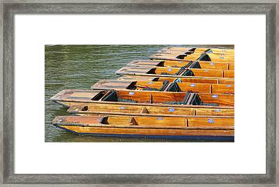 Cambridge Punts Framed Print by Donald Turner