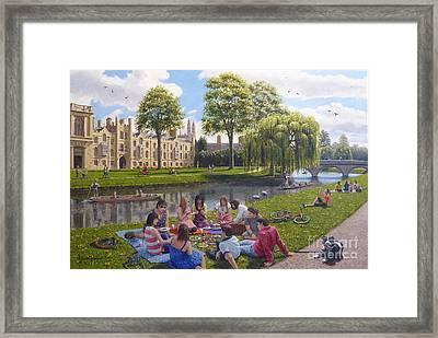 Cambridge Summer Framed Print by Richard Harpum