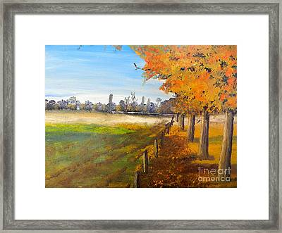 Framed Print featuring the painting Camden Farm by Pamela  Meredith