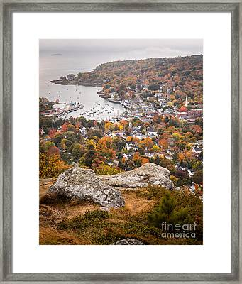 Camden From Mount Battie Framed Print