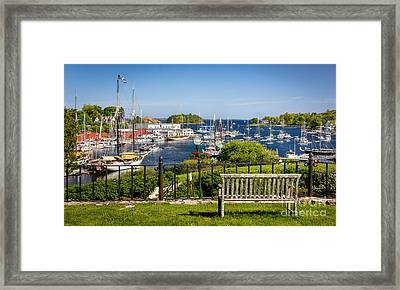 Camden Harbor Framed Print by Benjamin Williamson