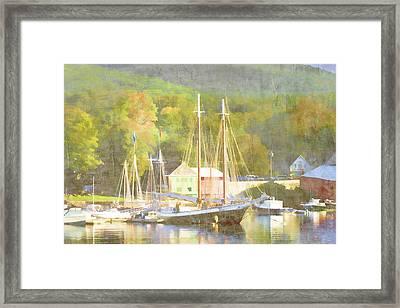Camden Harbor Maine Framed Print
