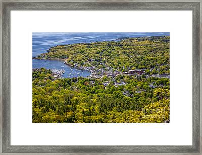 Camden Harbor View Framed Print by Susan Cole Kelly