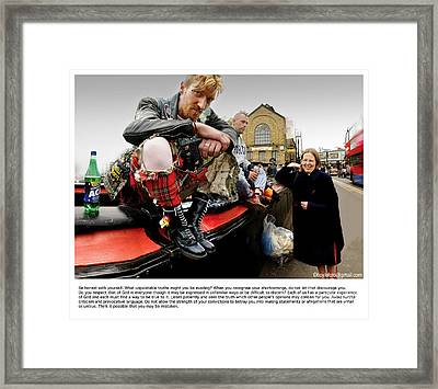 Camden Lock Drinkers Framed Print