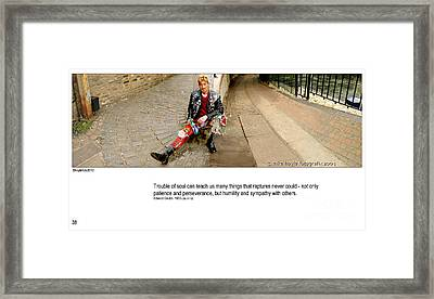Camden Lock Path Framed Print