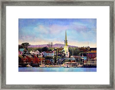 Camden Maine Harbor Framed Print by Cindy McIntyre