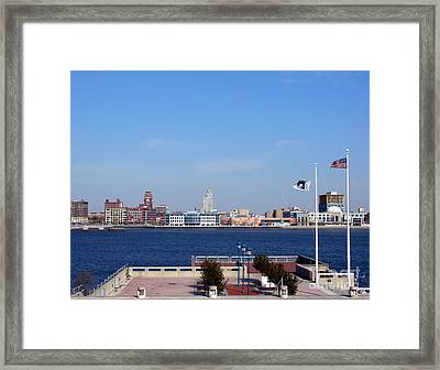 Camden Waterfront Framed Print by Olivier Le Queinec
