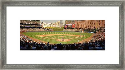 Camden Yards Baseball Game Baltimore Framed Print by Panoramic Images