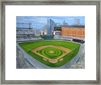 Camden Yards Framed Print by Laura Corebello