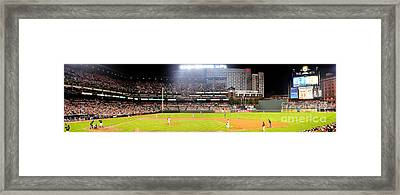 Camden Yards Framed Print by Mike Baltzgar