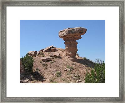 Framed Print featuring the photograph Camel Rock - Natural Rock Formation by Dora Sofia Caputo Photographic Art and Design