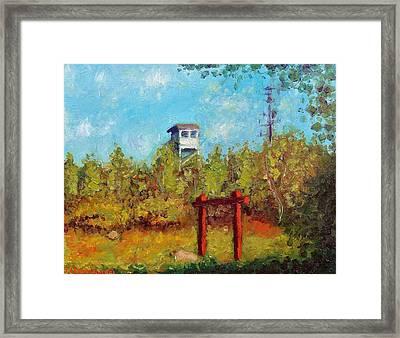Camel Top Fire Tower Framed Print