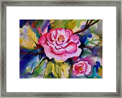 Camellia Prisms Original Sold Prints Available Framed Print by Therese Fowler-Bailey