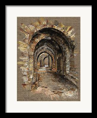 Brick Buildings Framed Prints