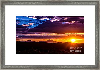 Camel's Hump Sunset.  Framed Print