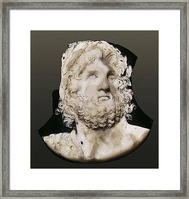 Cameo Depicting Jupiter. 2nd C. Onyx Framed Print by Everett