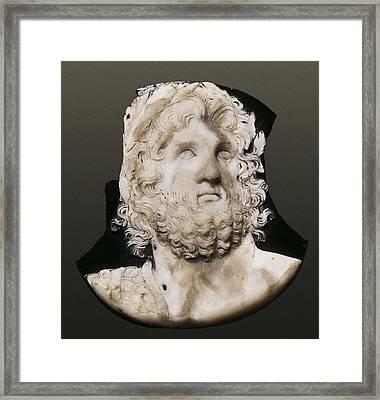 Cameo Depicting Jupiter. 2nd C. Onyx Framed Print
