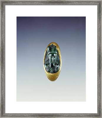 Cameo Gem Set Into A Hollow Ring Unknown Roman Empire 1st Framed Print by Litz Collection