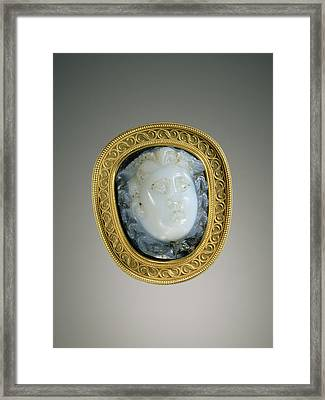 Cameo Gem Set Into A Mount Gem Unknown Framed Print by Litz Collection