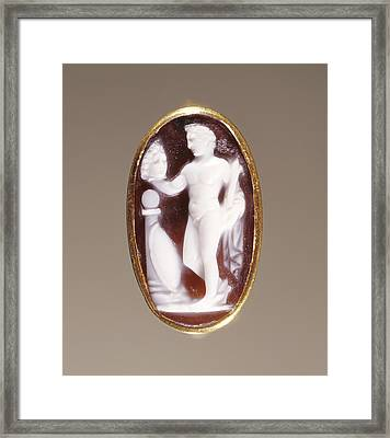 Cameo Gem Set Into A Ring Unknown Rome Framed Print by Litz Collection