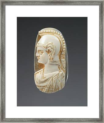 Cameo Gem Unknown 3rd - 4th Century Sardonyx Object H 2 Framed Print by Litz Collection