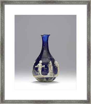 Cameo Glass Flask Unknown Roman Empire 25 B.c. - Framed Print by Litz Collection