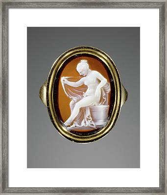 Cameo Set Into A Ring Hermaphrodite Possibly By Protarchos Framed Print by Litz Collection