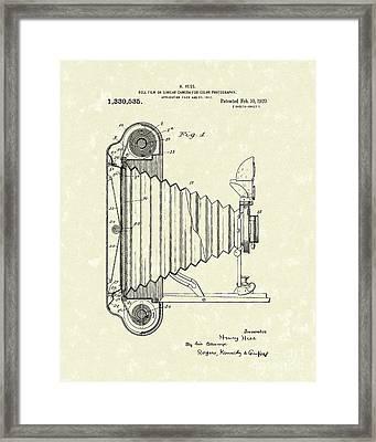 Camera 1920 Patent Art Framed Print