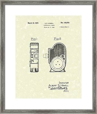 Camera 1937 Patent Art Framed Print