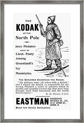Camera Advertisement, 1893 Framed Print