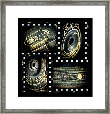 Camera Collage Framed Print by Rudy Umans