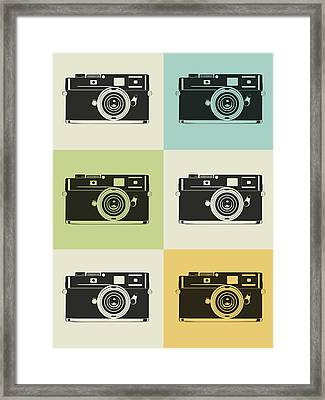 Camera Grid Poster Framed Print by Naxart Studio