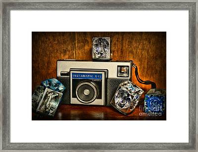 Camera - Kodak Instamatic Framed Print