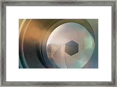 Camera Lens Framed Print by Ktsdesign