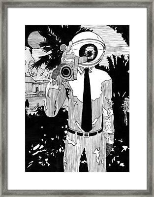 Camera Man Framed Print by Matthew Howard