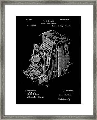 Camera Patent 1887 - Black Framed Print by Stephen Younts