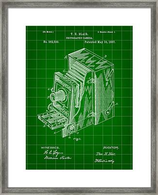 Camera Patent 1887 - Green Framed Print by Stephen Younts