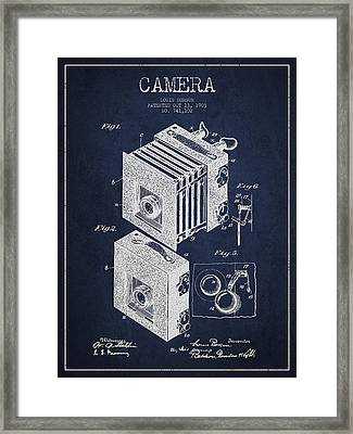 Camera Patent Drawing From 1903 Framed Print by Aged Pixel