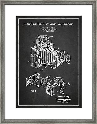 Camera Patent Drawing From 1963 Framed Print