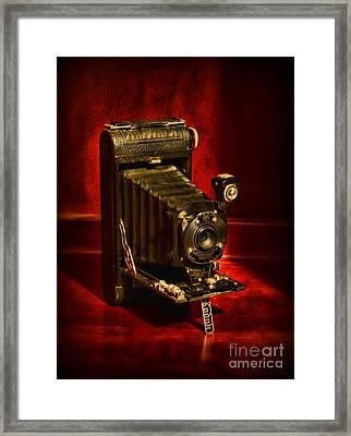 Camera - Vintage Kodak Pocket Camera Framed Print