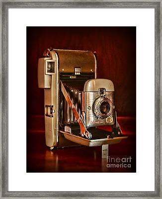 Camera - Vintage Polaroid Land Camera 80 Framed Print