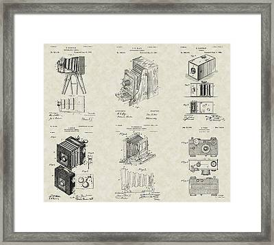 Cameras Patent Collection Framed Print
