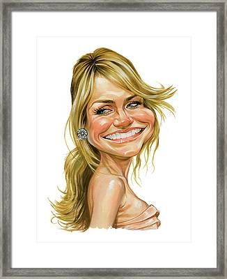 Cameron Diaz Framed Print by Art