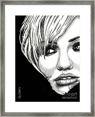 Cameron Diaz Framed Print by Cory Still
