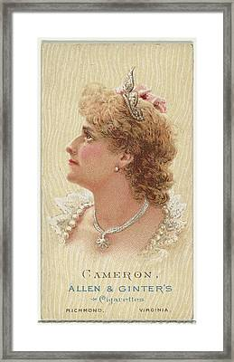 Cameron, From Worlds Beauties, Series 2 Framed Print by Allen & Ginter
