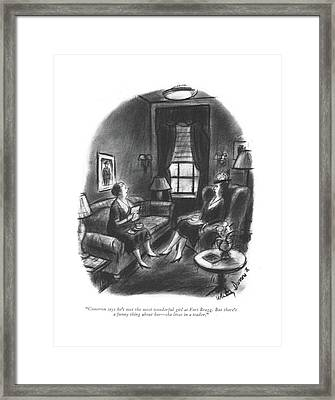 Cameron Says He's Met The Most Wonderful Girl Framed Print by Whitney Darrow, Jr.