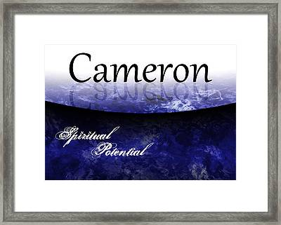 Cameron - Spiritual Potential Framed Print by Christopher Gaston