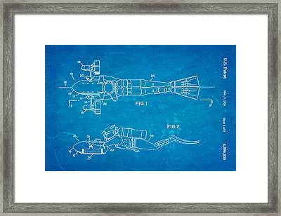 Cameron Underwater Dolly System Patent Art 1991 Blueprint Framed Print by Ian Monk